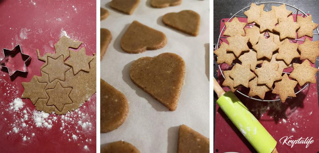 Découpe des biscuits de Noël