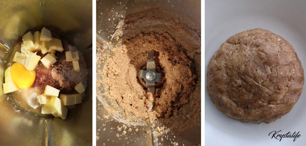 Préparation de la pâte à biscuits de Noël