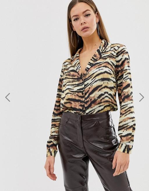 chemise motif animal
