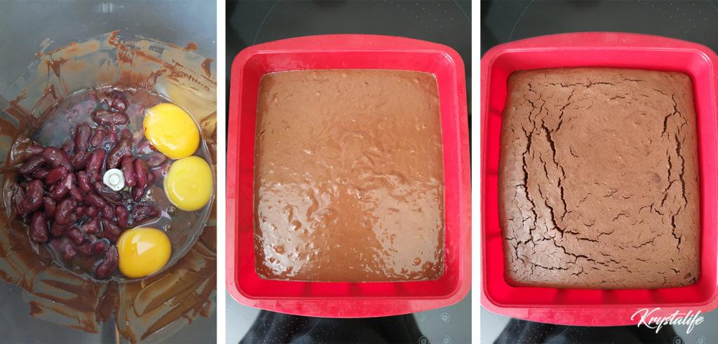 Préparation du fondant au chocolat sans gluten ni beurre