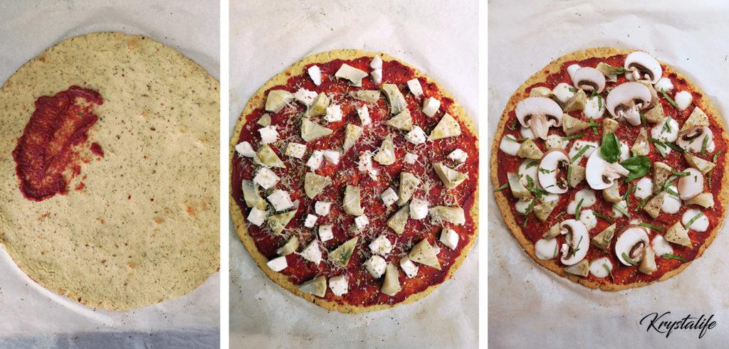 Préparation de la pizza sans gluten