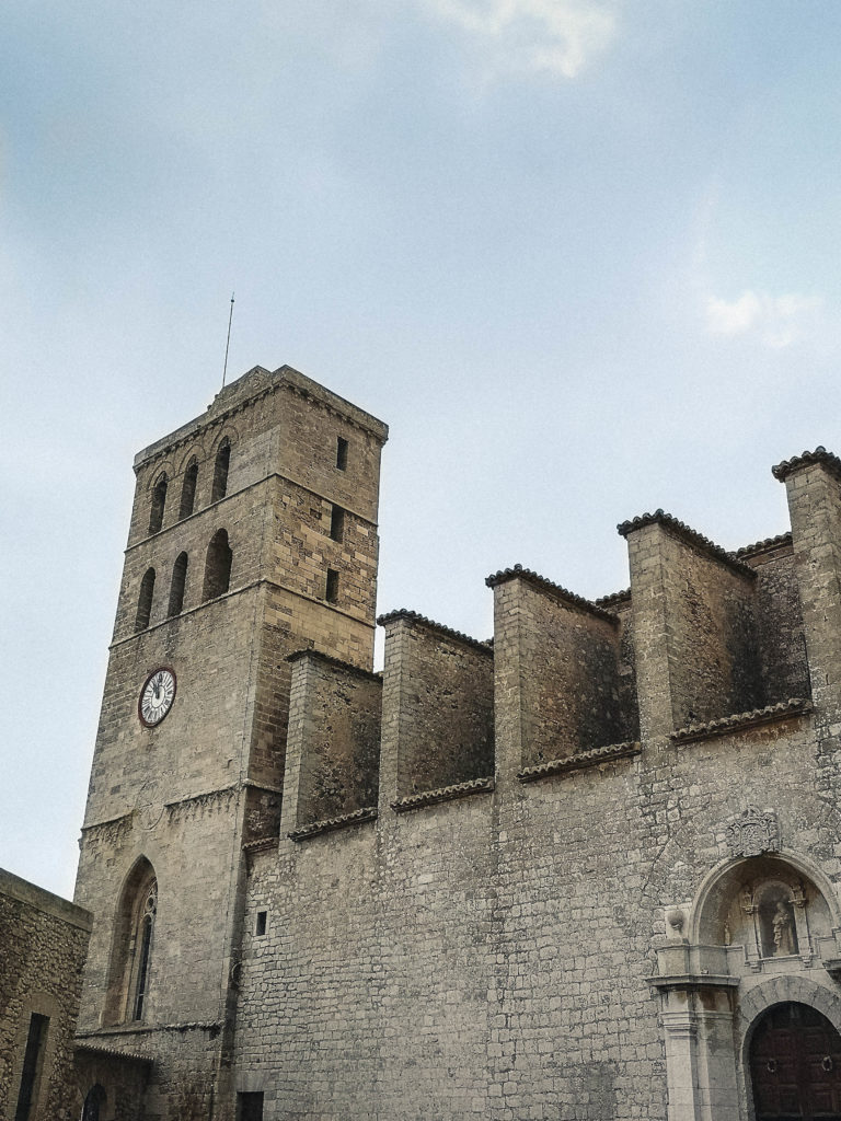 La cathédrale d'Ibiza