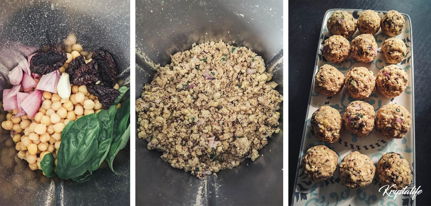 préparation des falafels