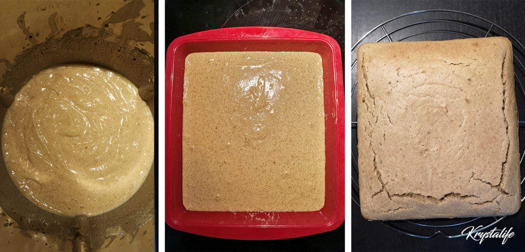 Preparation of the peanut butter cake