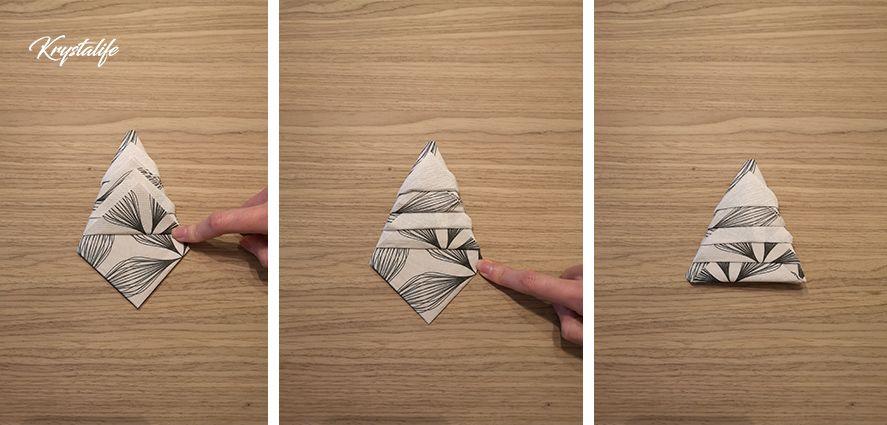 Folding of napkins steps by steps