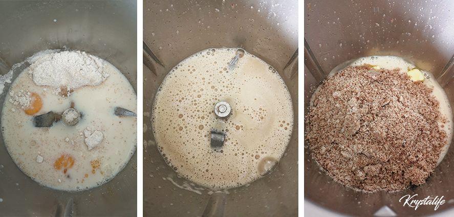 Préparation de la crème pâtissière aux amandes