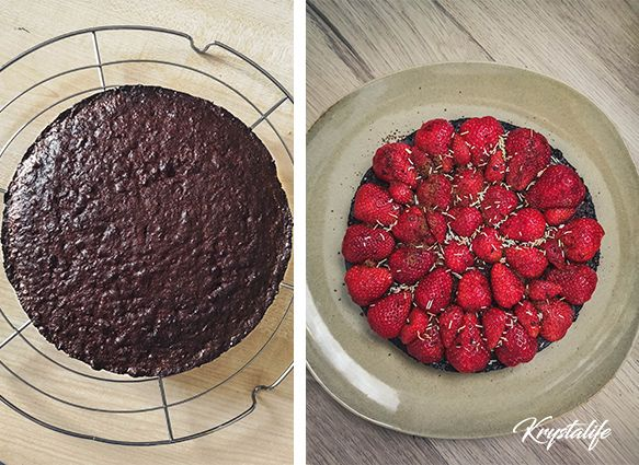 Healthy and moist chocolate cake