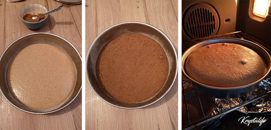 Cinnamon moist cake preparation