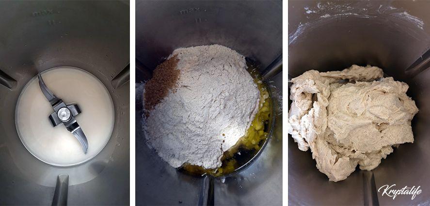préparation de la pâte du pain pita à garnir