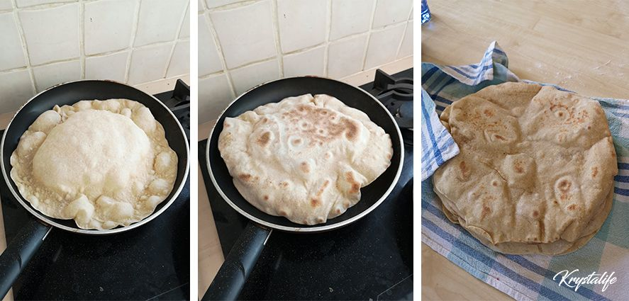 Pita bread to garnish cooking