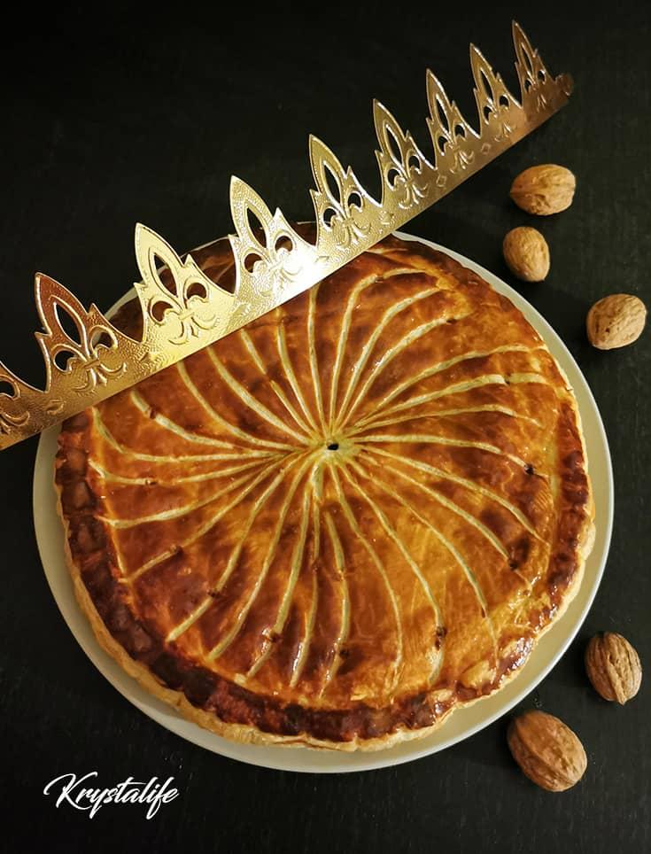 Galette des rois aux noix de Grenoble et chocolat