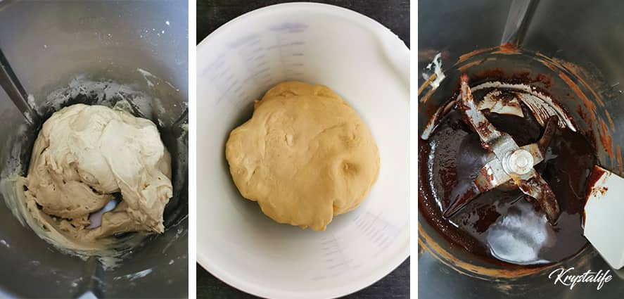 Cinnamon rolls dough preparation