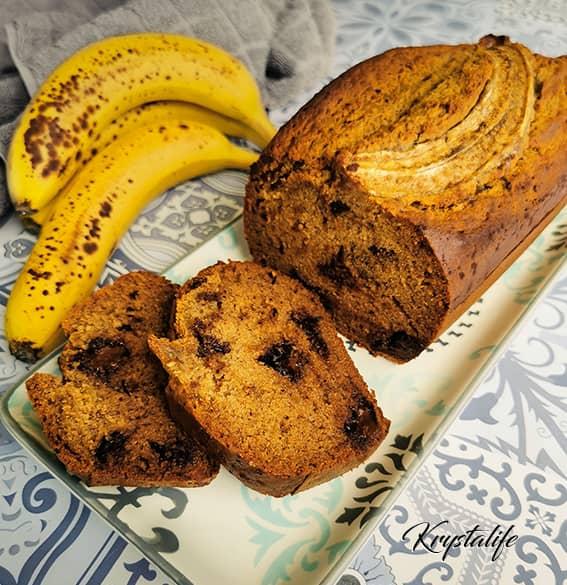 Banana bread healthy avec des bananes bien mures
